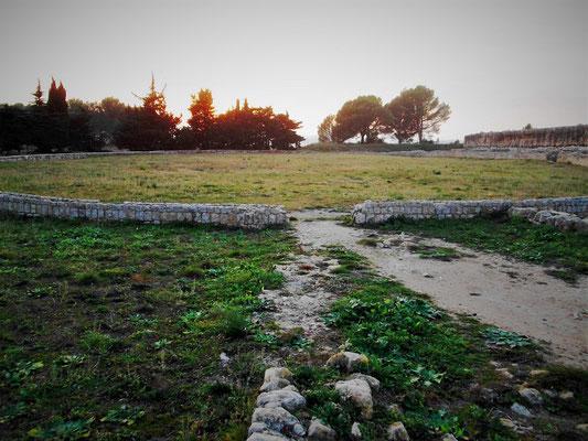 Die Reste des Amphitheaters
