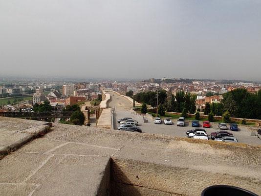 Blick von Festungsbastion auf Stadt