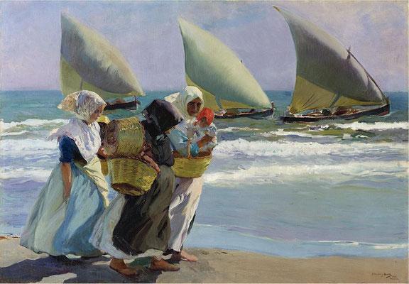 Joaquin Sorolla: Die drei Segel (1903)
