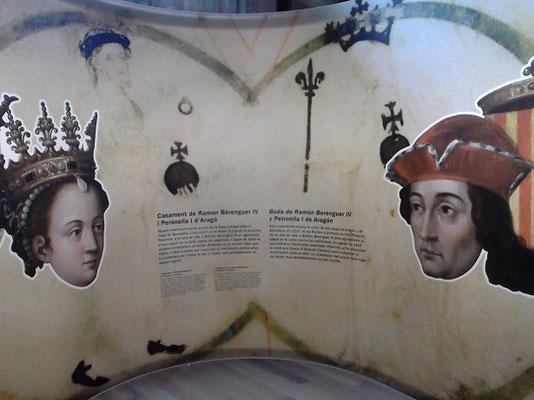 Heirat Graf Berenguer und  Prinzessin Petronella (Museumsdarstellung<)