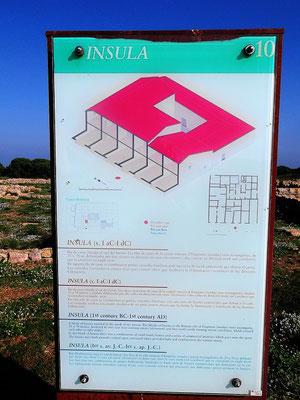 Rekonstruktionsbild einer Mietshaus-Insula in der römischen Stadt