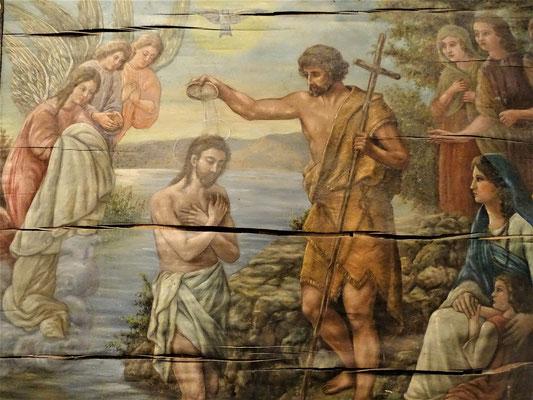 Taufe Jesus (Bild in der Sakristei)