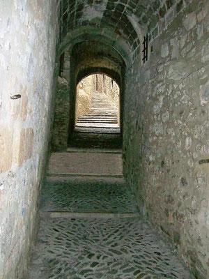 Carrer de Sant Lorenç von unten gesehen...