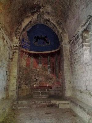 Im Inneren der Kapelle Sant Martí