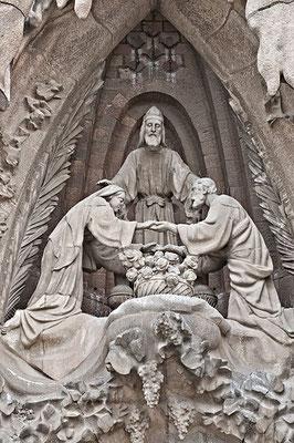"""""""Trauung"""" von Josef und Maria durch den Hohepriester im Tempel zu Jerusalem"""