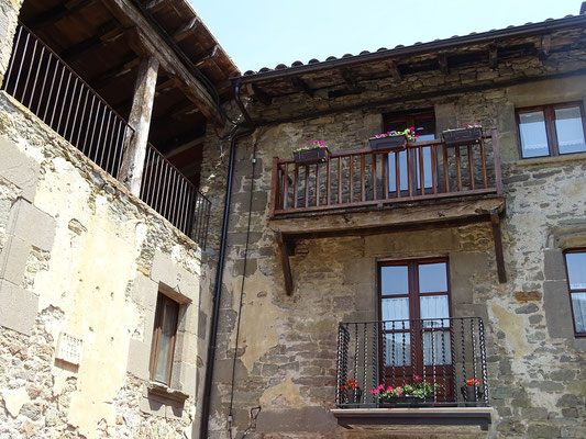 Blick auf Häuser