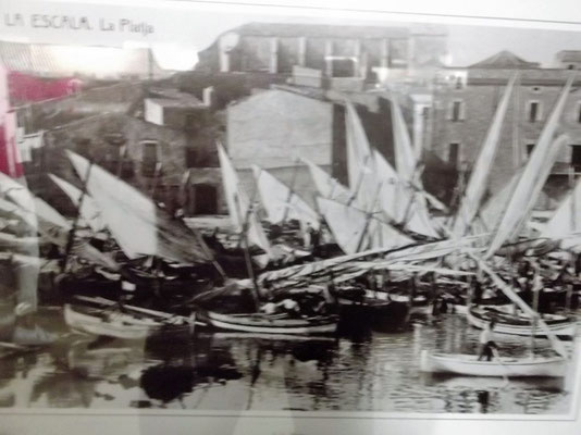 So sah es früher im Fischerhafen von L´Escala aus