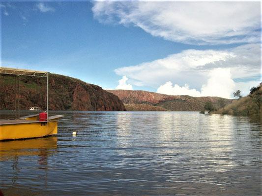Ein großer Stausee in der Kimberley-Region (Westaustralien)