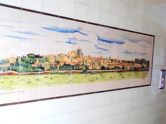 Ansicht Perlada - Kachelbild in einem Haus