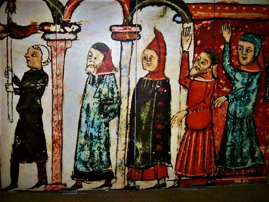 Jüdische Prozession (Darstellung im Jüd.Museum)