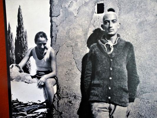 Dalí und der surrealistische Filmemacher Buñuel (1929?) in Cadaqués