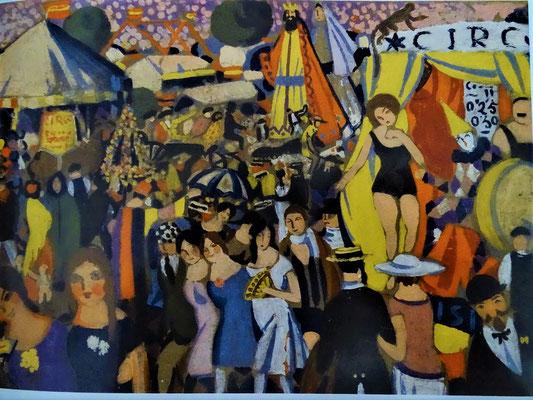 ...unter anderem dies Bild von der Festa Santa Creu, die damals auf der Plaça de Palmera stattfand