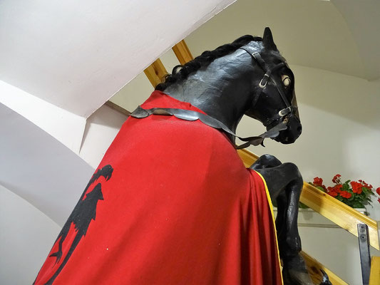 Das Ross des Grafen im Museum