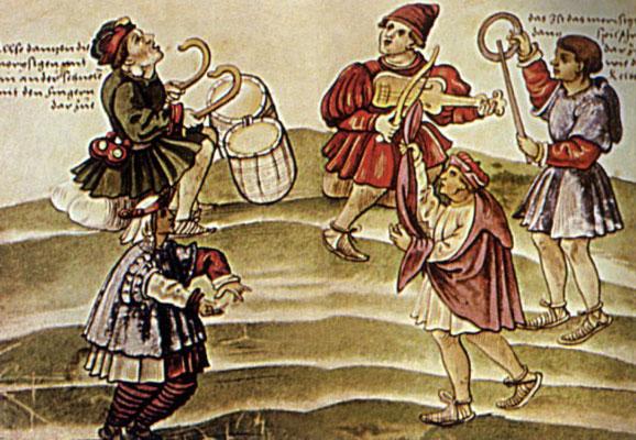 Christoph Weiditz (Spanisches) Trachtenbuch Moriskentänzer 1529