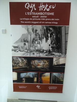 Plakat am Eingang des Espai Quim Hereu