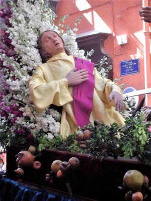 ...ein Heiliger in der Nachfolge Christi auf dem Sterbebett