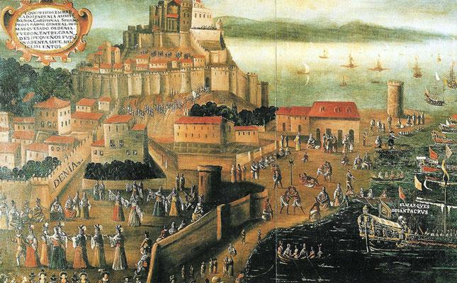 Vicente Mestre: Die Einschiffung der Morisken im Hafen von Denia (17. Jh.)