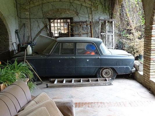 Das Auto des Dichters, eine alte Alfa Romeo Guilietta
