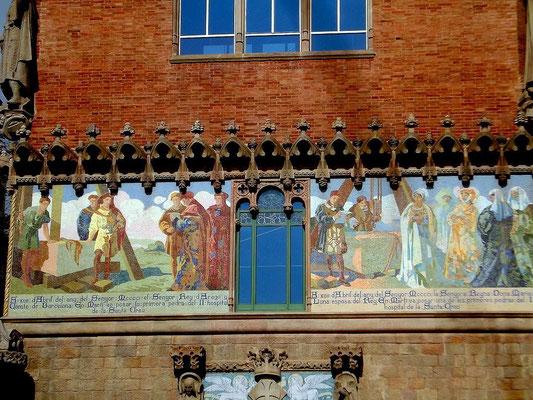 Grundsteinlegung des alten Hospitals Santa Creus 1401 durch König Marti und Königin Maria