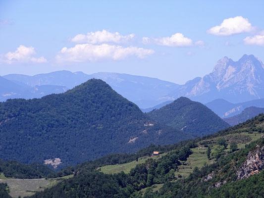 Blick vom Heiligtum Montgorny auf den Pedraforca