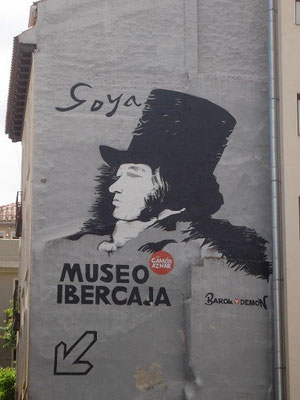 Bild am Goya-Museum Zaragossa