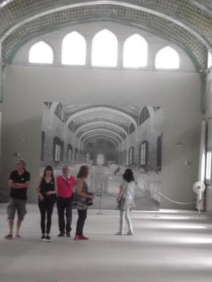 Blick in den Pavillon Sant Rafael