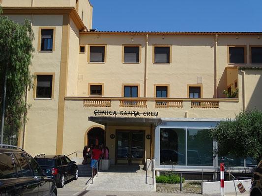 """Das Wohnhaus der Fmilie López Rodríguez  im """"rationalen"""" Stil - heute Eingang zur Klinil Santa Creu"""
