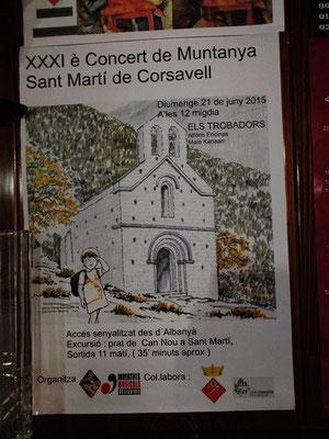 In Sant Martí gibt es eine gute Akustik