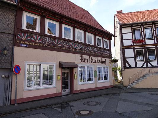 """Gaststätte """"Ruckshof"""" - dahinter befand sich das verschwundene Gut der Familie Ruck"""