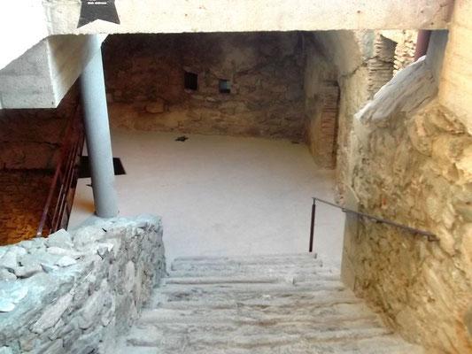 Blick in die unteren Räume der Festung