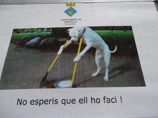 Ventalló möchte sauber bleiben -Text: Hoffe nicht, dass er das (selber) macht!