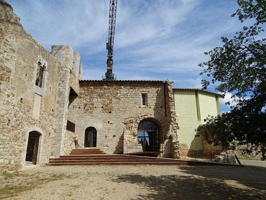 Die Gebäude werden für den Besuch rekonstruiert