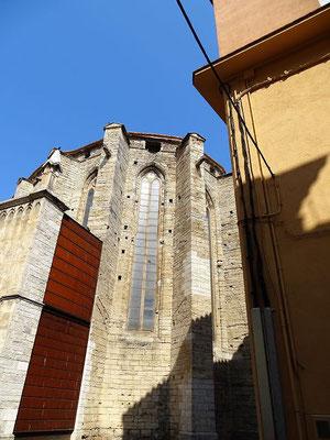 Das Hauptschiff der Kirche Santa Maria dels Turers (der Türme) ist eine der ältesten gotischen Sakralbauten Kataloniens (1269-1333)