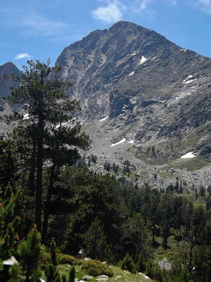 Da liegt er vor uns - der Gipfel des Canigó