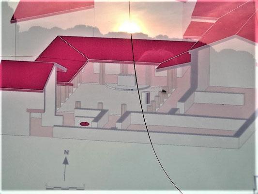 Rekonstruktion des Perystil-Hauses in der Neapolis
