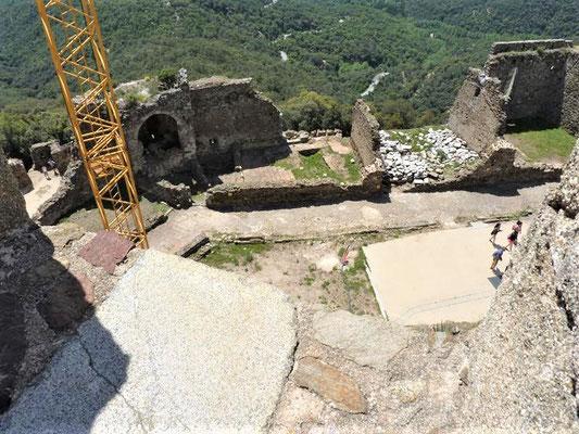 Blick vom Turm auf den zweiten Burghof