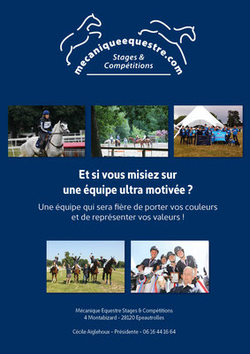 Dosser de sponsoring Mécanique Equestre