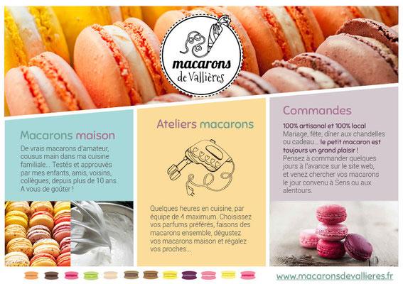 Flyer Macarons de Vallières