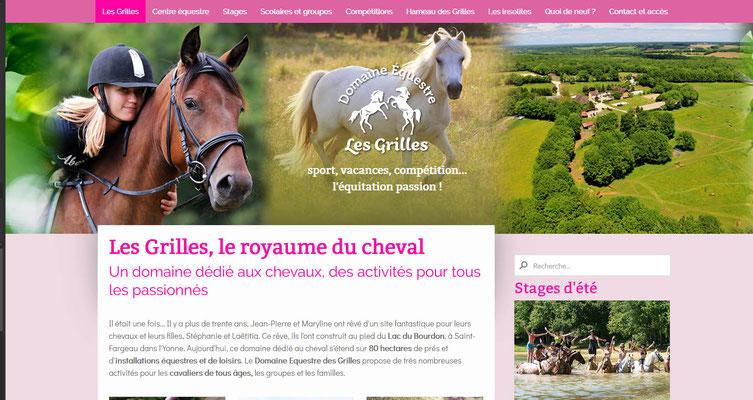 Création du site Web Domaine équestre les Grilles