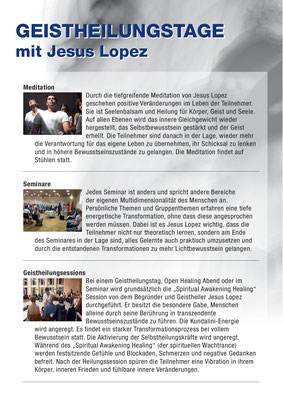 Informationsflyer Jesus Lopez