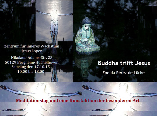 Buddha trifft Jesus  Flyer