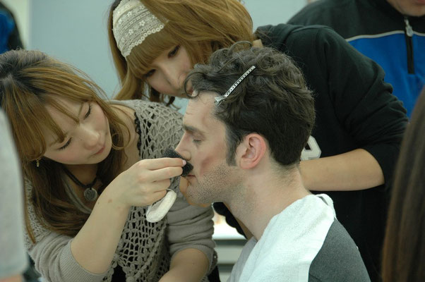 Makeup test at Yamano College of Aesthetics