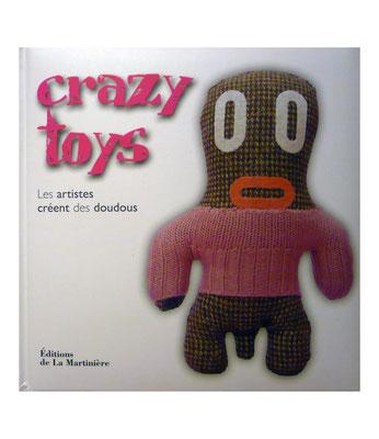 Crazy toys, livre, doudous, artistes, laura gourmel