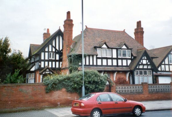 Arts and Crafts style house, 75 Shirley Road, 1888, built on land belonging to Henry Phillips of The Oaklands at the corner of Victoria Road, and described as Lodges 1 and 2 in 1891.
