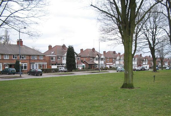 Houses built by Frederick Henry Crabbe on Olton Boulevard East.