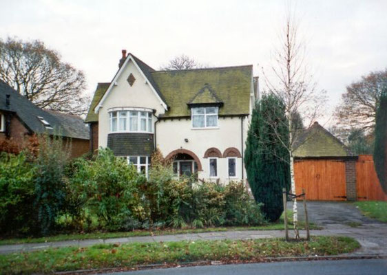 Philip Perks' own house, built by him, 1927, Hazelwood Road