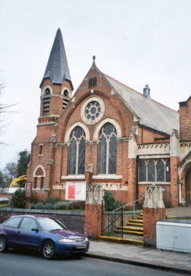The 1882 extension to the Methodist church, Shirley Road