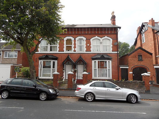 Ornate semis, Oxford Road, built c. 1875 as Mona and Snaefell Villas