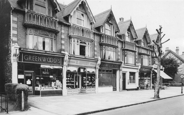 Shops at Douglas Road, 1956  (Birmingham Libraries)
