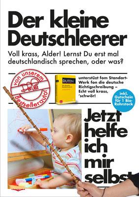 """"""" Der kleine Deutschleerer"""" Parodie auf die Buchreihe 'Jetzt helfe ich mir selbst' des motorbuch-Verlags aus den 1070ern."""